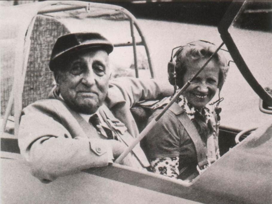 Karl Ritter med Reitsch i Scheibe Falke