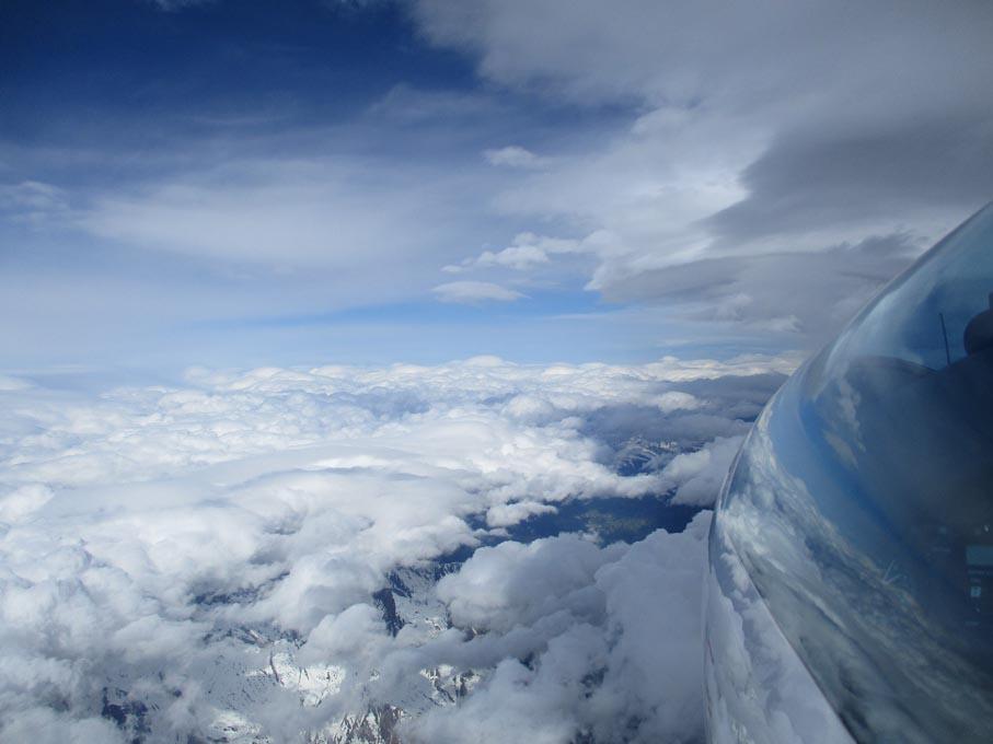 07 Über Kaprun Richtung Westen 6500 m